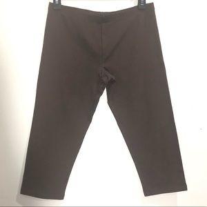 Simply Vera Vera Wang brown capri leggings, M